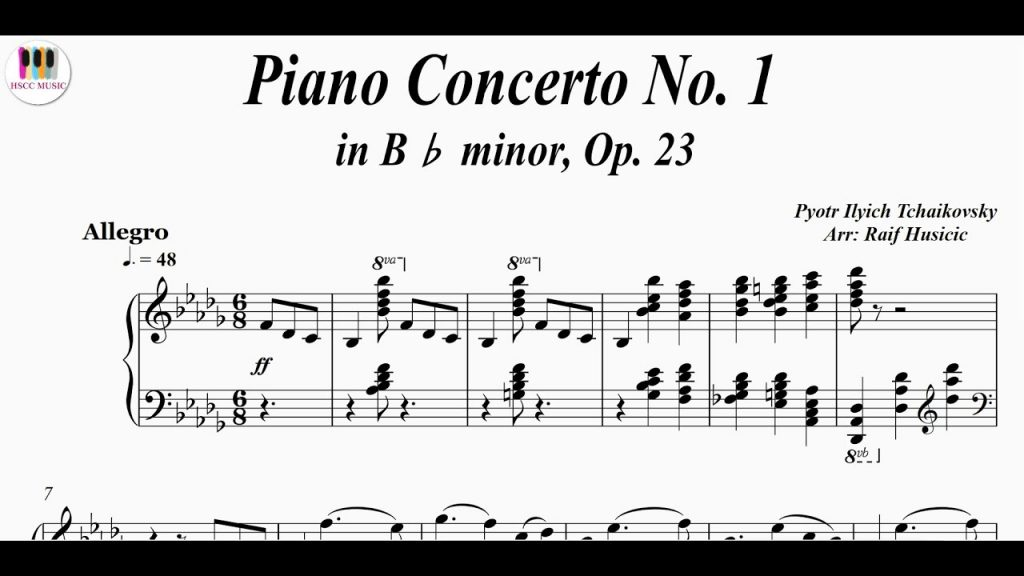 Peter Ilyich Tchaikovsky: 'Concerto for Piano No. 1'
